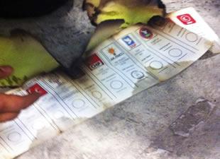 ATO'da yakılan oylar böyle görüntülendi