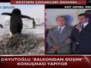 Halk TV'den balkon konuşmasına penguenli gönderme