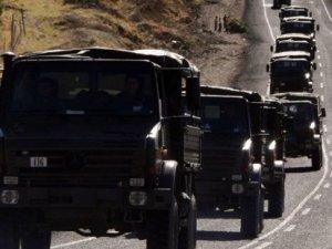 Siirt'te askeri konvoya taciz ateşi