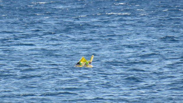 10 aylık bebek denizde 1 kilometre sürüklendi