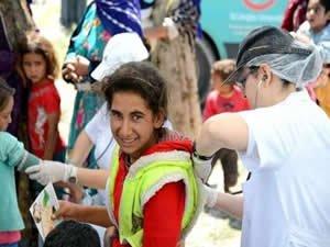 Mevsimlik işçi çocuklarına sağlık taraması