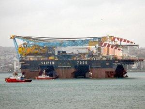 Türk Akımı'na mühendislik hizmeti verecek Saipem 7000 Karadeniz'den ayrıldı
