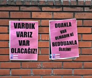 'Lut kavmi' afişlerine sokaktan cevap