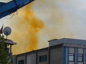 Tuzla Organize Deri Sanayi Bölgesi'nde kimyasal sızıntı