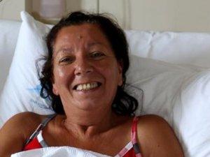 Karnından 11 kiloluk tümör çıkartıldı
