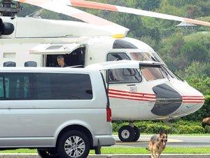 Erdoğan Tarabya Köşkü'nden Sabiha Gökçen'e helikopterle gitti
