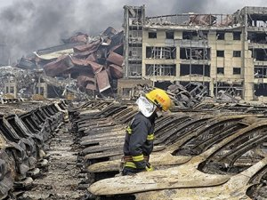 Çin'deki patlamadan sonra tahliye kararı