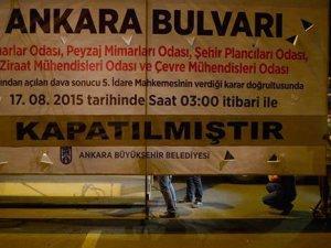 Ankara Bulvarı trafiğe kapatıldı