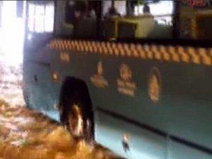Taksim tünelini su bastı