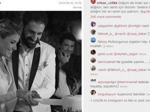 Erhan Çelik'ten Gülben Ergen'e duygu dolu mesaj
