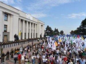 Ukrayna parlamentosuna baskın