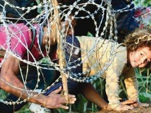 O ülkeden mültecilere karşı tel örgülü önlem