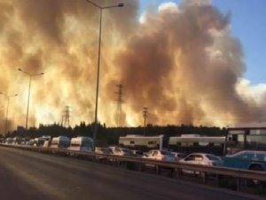 Tuzla'da askeri bölgede yine yangın