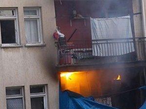 Polis lojmanında yangın çıktı: 3 yaralı