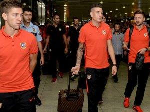 Galatasaray'ın rakibi Atletico Madrid İstanbul'a geldi