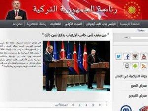Cumhurbaşkanlığı sitesi Arapça yayına başladı