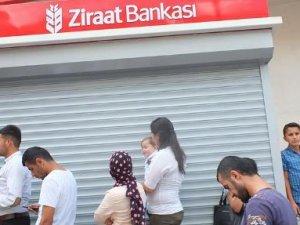 Ziraat Bankası'ndan para çekemiyorlar