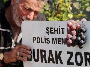Şehit oğullarının mezarına çok sevdiği kara üzüm bıraktılar