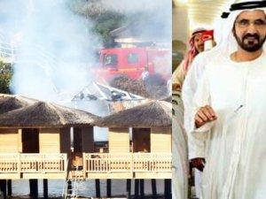 El Maktum'un Bodrum'daki otelinde yangın çıktı!