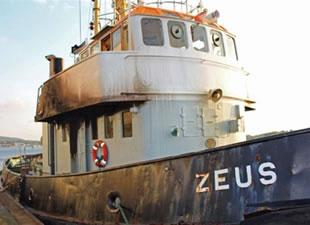 Zeus adlı Römorkörde yangın çıktı: 4 ölü