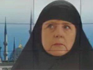Çarşaflı Merkel' tartışma yarattı