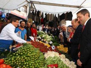 Başbakan Davutoğlu pazarda