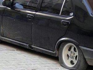 Konya'da 150 araç lastiği kesildi