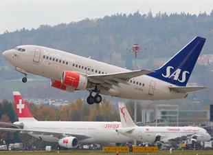 SAS Hava Yolları'na ait uçak havada arızalandı