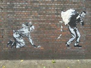 Banksy'nin gündemi Erdoğan