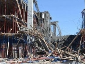 Hastane inşaatında çatı çöktü, 2 işçi öldü!