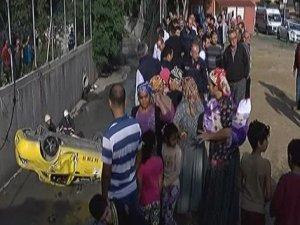 Ticari araç Kurbağalıdere'ye uçtu: 3 yaralı