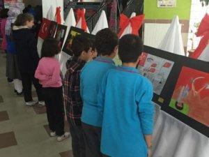 Çocuk ressamlar Cumhuriyet Bayramı'nı çizdi