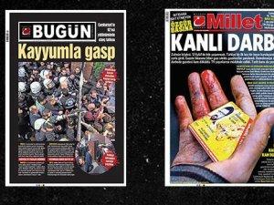 Bugün ve Millet gazetelerinin baskısı durduruldu, sayfalar Twitter'dan paylaşıldı!