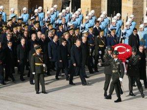 29 Ekim için ilk tören Anıtkabir'de yapıldı