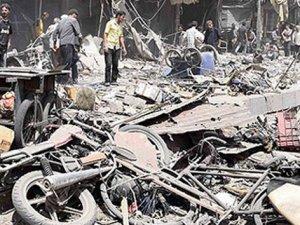 Suriye'de pazar yerine saldırı: 45 ölü