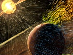 NASA: Mars'taki atmosferi Güneş rüzgarları yok etti