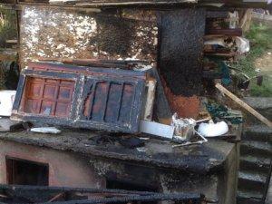 3 gün önce kazada ölen şahsın evi kundaklandı