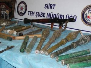 Siirt'te mezarlık ve türbede PKK cephaneliği bulundu