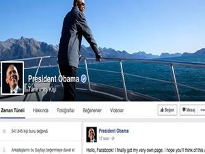 Obama Facebook açtı, ilk video paylaştı