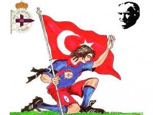 Deportivo taraftarları Atatürk'ü unutmadı