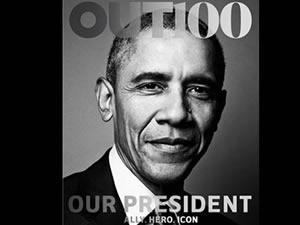 Obama bu ay Out dergisine konuk oldu