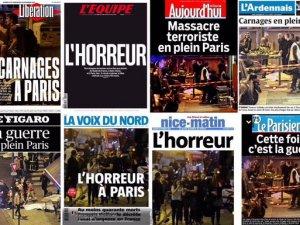 Katliam sonrası Fransız basını: Paris'in merkezinde savaş!