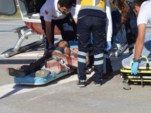 Hava ambulansı 13 yaşındaki mevsimlik işçi için havalandı