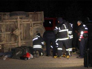 Korkunç kaza: Kamyonun altında can verdi