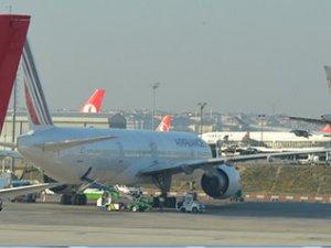 Fransa uçağı acil iniş yaptı