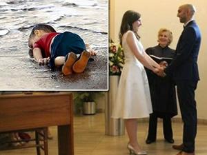 Aylan'ın kıyıya vuran fotoğrafını gören çift düğünden vazgeçti