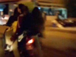Kız öğrencilerin elektrikli bisikletle ölüm oyunu