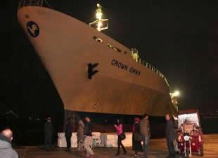 İstanbul Boğazı'nda Crown Emma isimli kuru yük gemi karaya oturdu