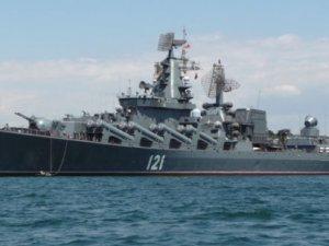 """""""Savaş gemisi Moskova, Türkiye-Suriye karasularının birleştiği noktada konuşlandırılacak"""""""