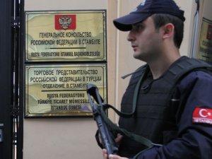 Rusya Konsolosluğu önünde güvenlik önlemi